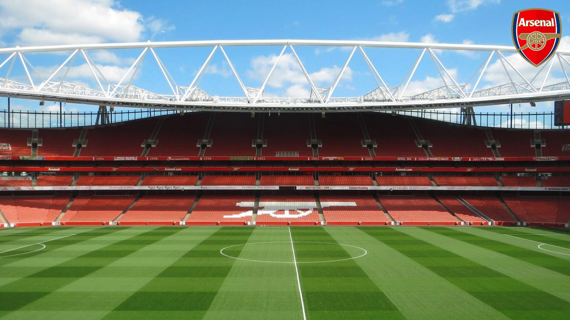 Arsenal Stadium Mac Backgrounds with resolution 1920x1080 pixel. You can make this wallpaper for your Mac or Windows Desktop Background, iPhone, Android or Tablet and another Smartphone device