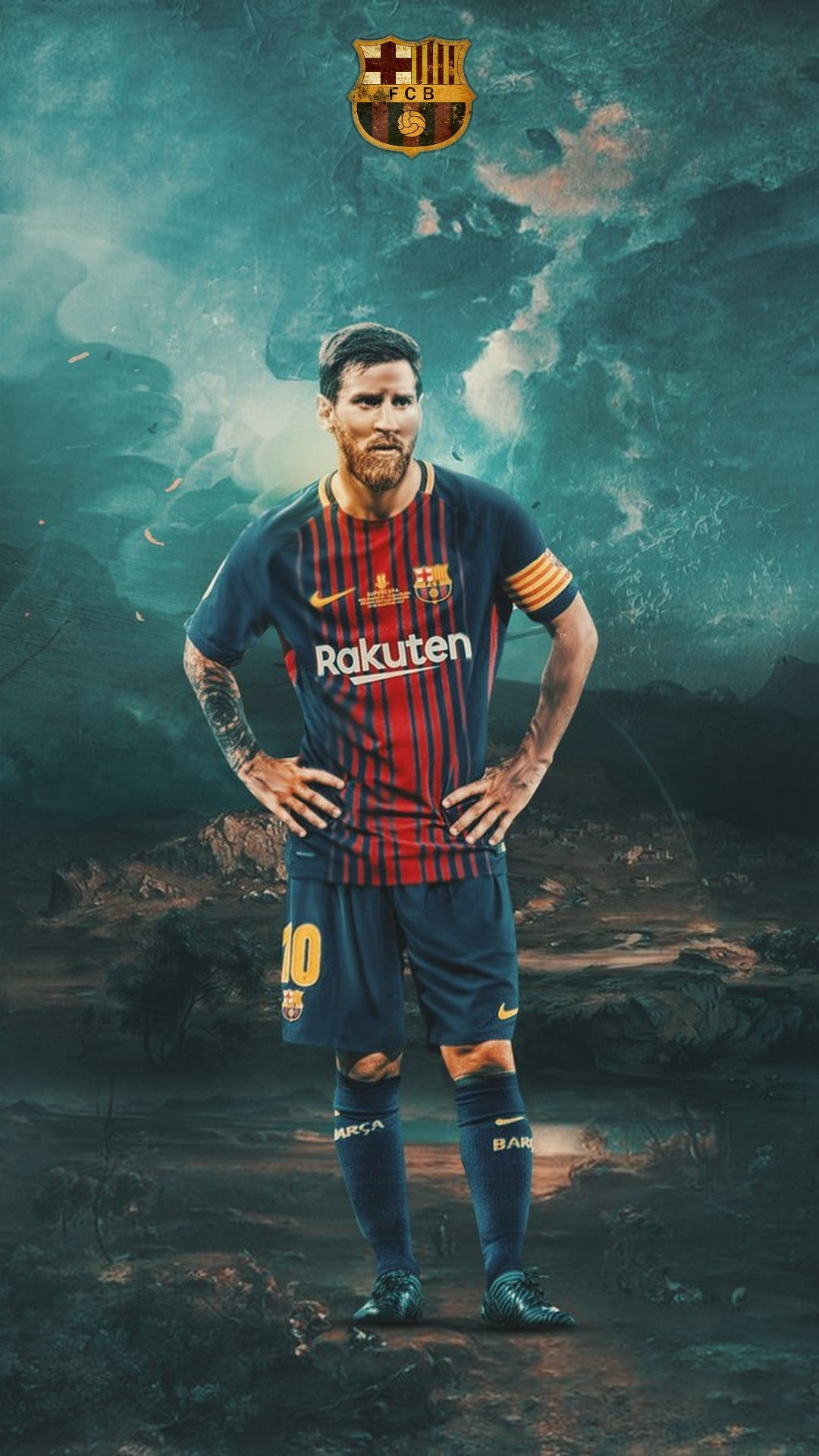 Lionel Messi Barcelona HD Wallpaper For iPhone with resolution 1080x1920 pixel. You can make this
